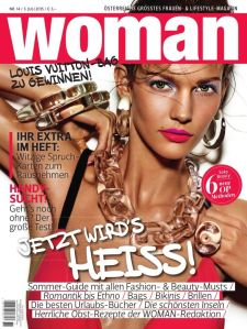 Karim Aga Khan's daughter-in-law, Kendra Spears on the cover of Woman Magazine [Austria] in July 2015. She married Karim Aga Khan's son, Rahim Aga Khan on 31 August 2013.