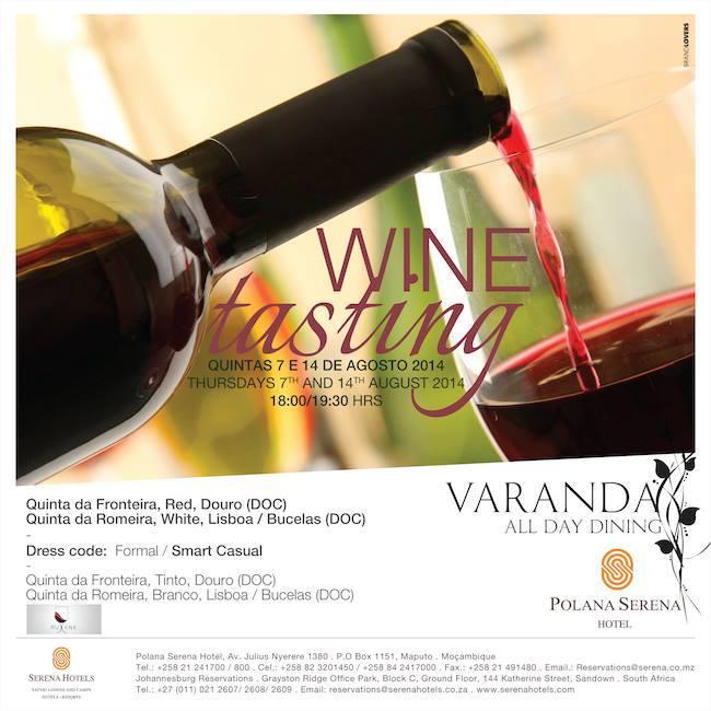 Wine Tasting at Polana Serena Hotel owned by Aga Khan