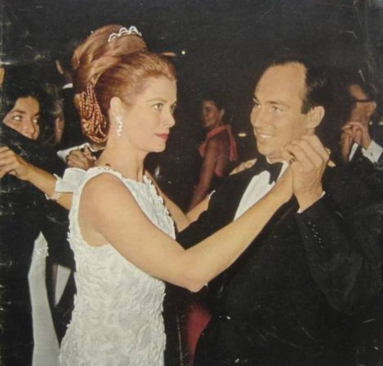 Karim Aga Khan dancing with Princess Grace of Monaco