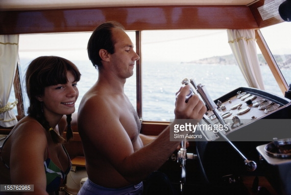 Karim Aga Khan with his sister Yasmin Aga Khan