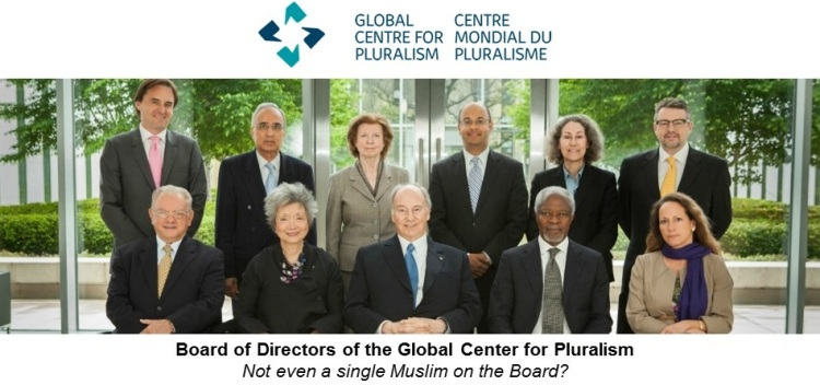 Global Center for Pluralism: Not even a single Muslim on the Board?