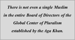 No Muslim in Global Center for Pluralism