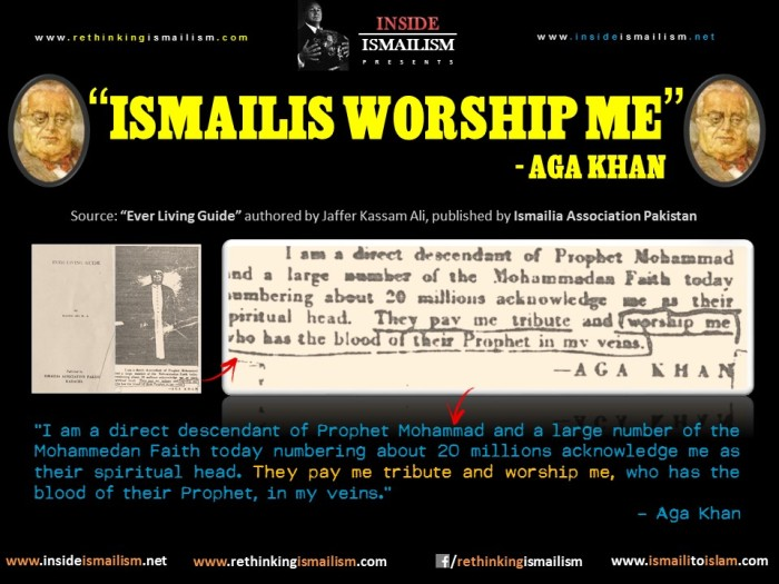 Ismailis Worship Me