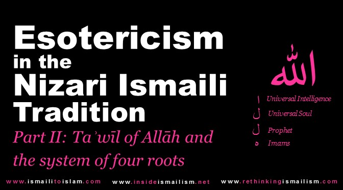 Esotericism in the Ismāʿīli Tradition Part II: Tawil of Allah and the system of four roots