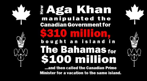 The Aga Khan, The Bahamas and The Trudeaus