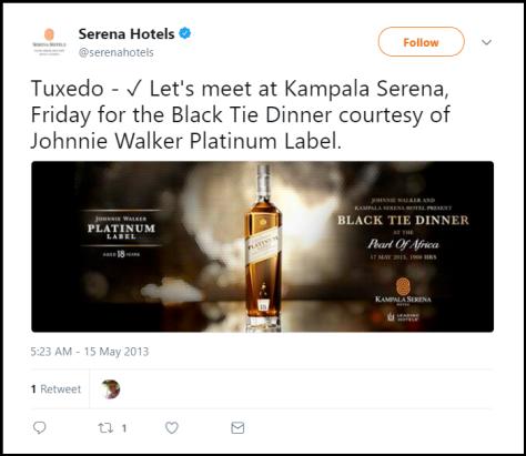 Serena Hotels Black Tie Dinner