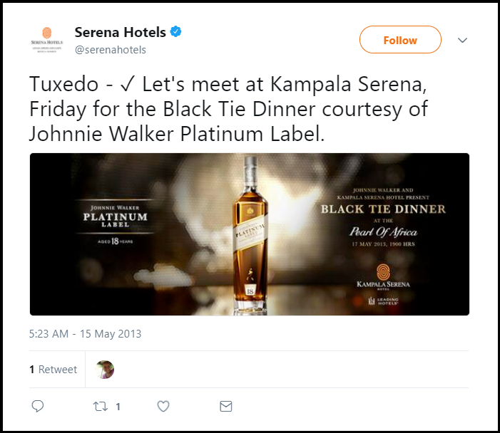 Serena Hotels Black Tie Dinner