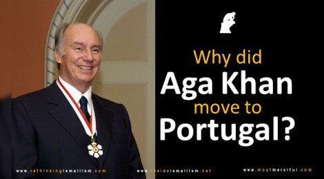 Why did Aga Khan move to Portugal?