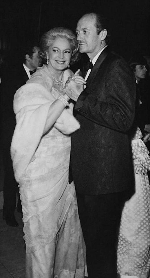 dancing with David Niven at Bal de la Rose in Monaco 1968