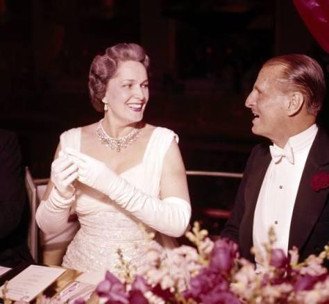 with Prince Serge Obolensky at Imperial Ball Waldorf Astoria NY 14-01-1957